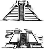Pirámides mayas — Vector de stock
