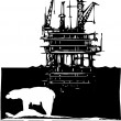 Arctic Drilling — Stockvectorbeeld