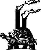 Smokestack Turtle — Stockvector