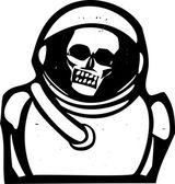 Zombie Astronaut — Stock Vector