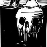 Iceberg Skull — Stock Vector #42363227