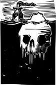 Iceberg Skull — Stock Vector