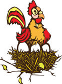 Kyckling och ägg — Stockvektor