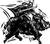 Norse God Frey — Stock Vector