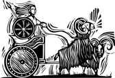 Norse Goddess Frigg — Stock Vector