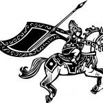 Постер, плакат: Valkyrie on Horse