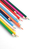 Colorful pencils on a white background close-up — Stock Photo