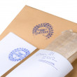 "Paper envelope stamped ""Top Secret"", concept on classified material on December 21, 2012 — Stock Photo"