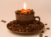 Candle in the cup — Foto de Stock