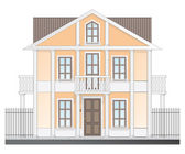 Vintage victorian house — Stock Vector