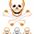 Stock Vector: Skull and Crossbones