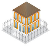 Detailed building, isolated on white — Stock Vector