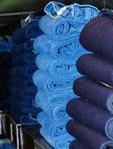 Stacks of jeans — ストック写真