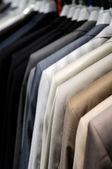 Suits on hangers — Foto Stock