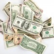 Stock Photo: Background with money american dollars bills