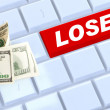 Lose online income — Stockfoto