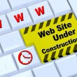 Stock Photo: Under construction website template.