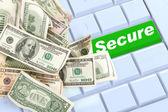 Compras on-line seguras — Fotografia Stock