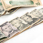 U.S. Dollars all bills currency — Stock Photo