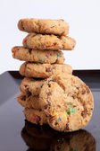 Cookies with color chocolate — Stock Photo