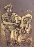 Oryginalny obraz, olej i mieszana — Zdjęcie stockowe