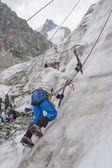 Ragazza clumb fino sul ghiaccio — Foto Stock