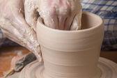 Traditional handcrafted mug — 图库照片