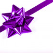 Stock Photo: Purple Ribbon And Bow