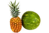 Watermelon And Pineapple — Stock Photo