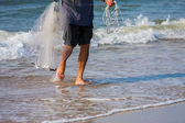 Net Fishing — Stockfoto