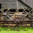 Old Farm Cultivator - Stock Photo