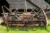 Staré farmy kultivátor — Stock fotografie