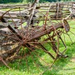 Stock Photo: Old Farm Cultivator
