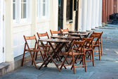 Simple Outdoor Sidewalk Cafe — Stock Photo