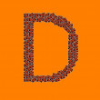 Happy Halloween Alphabet Letter D — Stock Photo