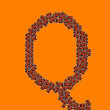 Happy Halloween Alphabet Letter Q — Stock Photo