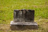 Old Broken Gravestone — Stock Photo