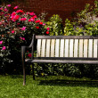 Bench In A Garden — Stock Photo