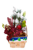 Christmas Basket Arrangement — Stock Photo