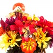 Fall Basket Centerpiece - Stock Photo
