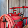 Antique Fire Extinguisher - Stock Photo