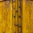 Old Yellow Wooden Double Doors — Stock Photo #24838383