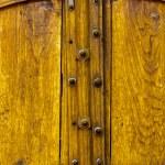 Постер, плакат: Old Yellow Wooden Double Doors