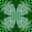 Photo: Abstract Fractal Art Background
