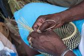 Gullah Basket Weaving — Stock Photo