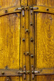 Old Yellow Wooden Double Doors — Stock Photo