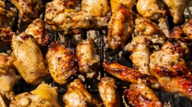 Chicken On The Grill — Stock Video