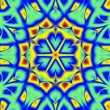 Blue and yellow kaleidoscope — Stock Video #33772323