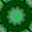Stock Video: Green kaleidoscope