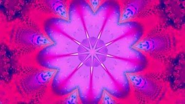 紫星カレイド スコープ — ストックビデオ